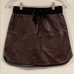 Forever 21 Vegan leather skirt with tie waistband